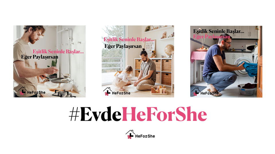 Equality starts with you, if you share. Design: HeForShe Turkey
