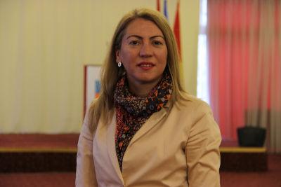 Emilija Gjurchinovska-Matevska, Gender Equality Coordinator at the Municipality of Gazi Baba. Photo curtesy of Ms. Gjurchinovska-Matevska