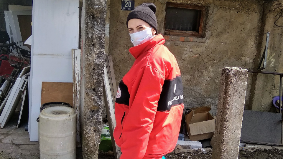 As a long-time member of the Red Cross, Danijela Grbić volunteered to help those who needed it most during the pandemic. Photo courtesy of Danijela Grbić