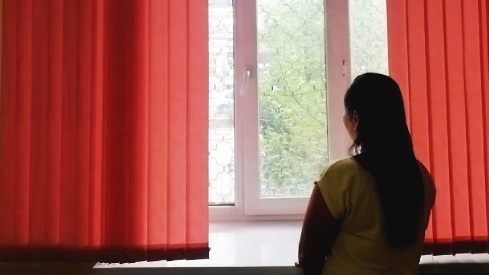 A domestic violence survivor *Nura now lives in a shelter, and she is hopeful for the future. Photo: AFEW Kyrgyzstan