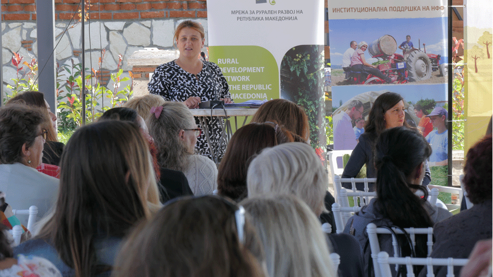 Biljana Petrovska-Mitrevska, activist and project manager at the National Federation of Farmers during the marking of the International Day of Rural Women in 2018. Photo credits: UN Women/Ognen Dimitrovski