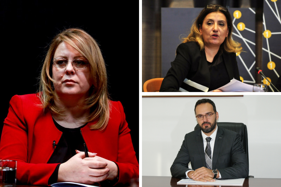From left to right (clockwise): Hykmete Bajrami, the Minister of Finance of Kosovo; Jovana Trenchevska, Head of the Unit for Gender Equality at the Ministry of Labour and Social Policy; Jasmin Pilica, Deputy of Head Auditor at Bosnia and Herzegovina Audit Office