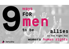 9 ways men can become allies for equal rights