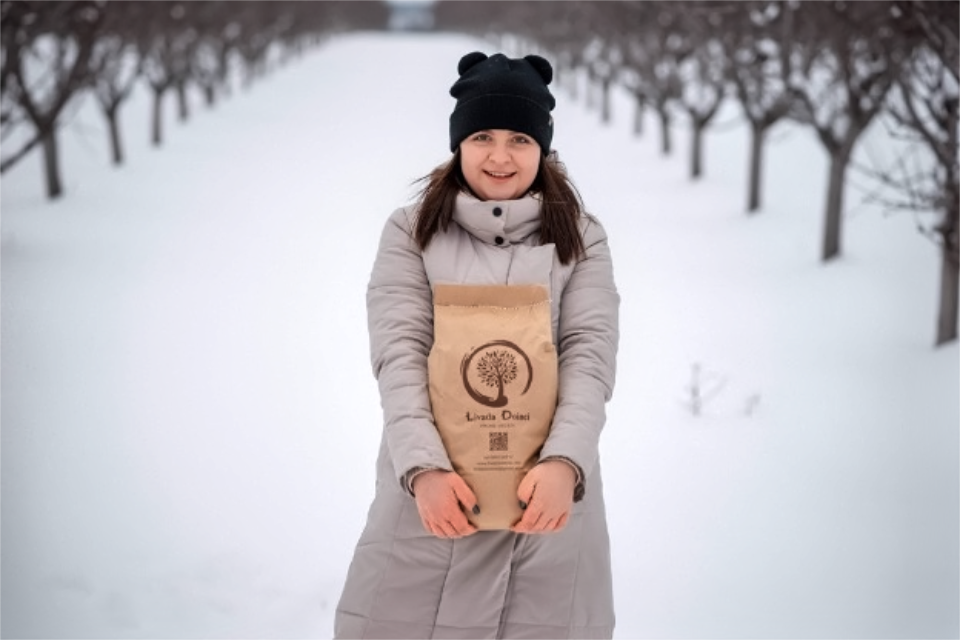 Doina Grati, entrepreneur and owner of a plum orchard. Photo: agroexpert.md