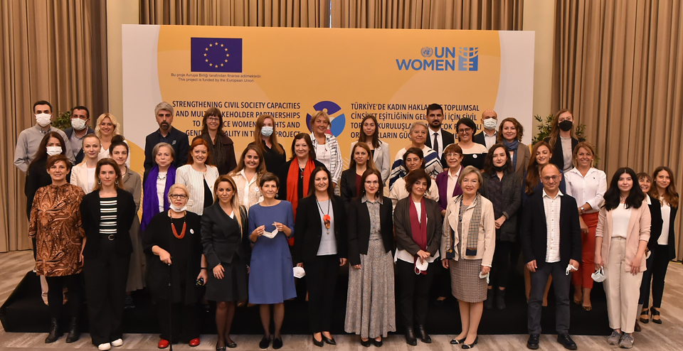 The new UN Women – EU project kicks off in an event that brings together the representatives of the European Union Delegation to Turkey, UN Women, civil society, government representatives and other stakeholders on 5 October 2021 in Ankara, Turkey.