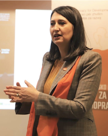 Edi Gusia is the Chief Executive of the Agency for Gender Equality in Kosovo.
