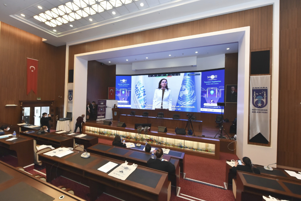 The Purple Map was introduced with an event organized at the Ankara Metropolitan Municipality conference hall. Photo: UN Women