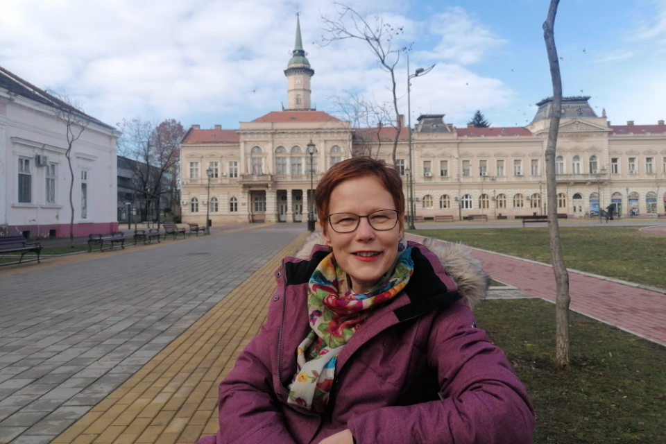 In spite of COVID-19 pandemic, Jelena Brankov Cerevicki, coordinator for gender equality in the northern Serbian municipality of Becej, has managed to organise different activities that helped improve everyday life of Becej's rural women. Photo courtesy of Jelena Brankov Cerevicki.