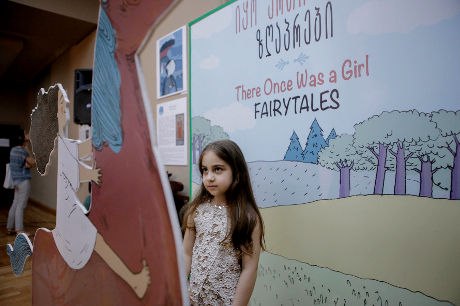 "Presentation of the fairy tale book ""Once There was a Girl""; Photo: UN Women/Maka Gogaladze"