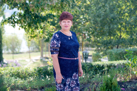 """The woman councilor suggested Eco-Taraclia, a project that got the local community to clear out the mounds of garbage. Photo:UN """"Women in politics"""" Programme/ Dorin Goian"""