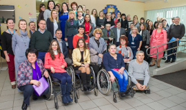 Local authorities and civil society organizations jointly identified the practical measures and steps to address the specific needs of women and girls with disabilities in the conflict affected city of Kramatorsk. Photo: UN Women/Volodymyr Shuvayev