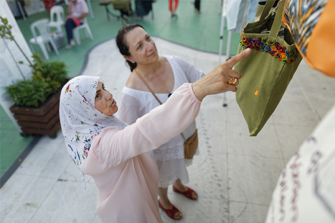 SADA Women's Cooperative actively attends events to introduce items that the women produce. Photo: UN Women Turkey/Tayfun Dalkilic