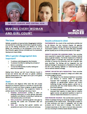 Making Every Woman and Girl Count   In Brief: Europe and Central Asia