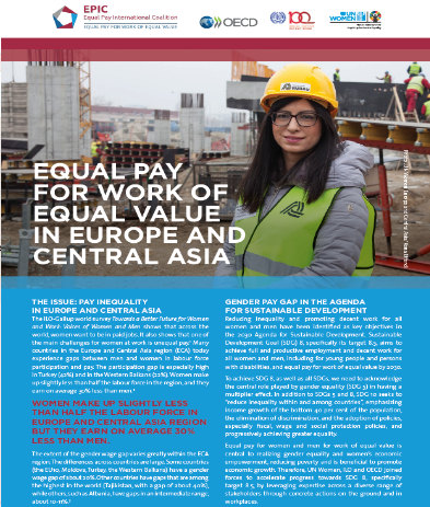 Equal Pay for work of equal value in Europe and Central Asia