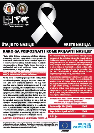Flyer on violence in Bosnia and Herzegovina
