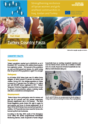 'Strengthening the Resilience of Syrian Women and Girls and Host Communities in Turkey, Iraq and Jordan' project, Fact Sheet - Turkey Country Facts'