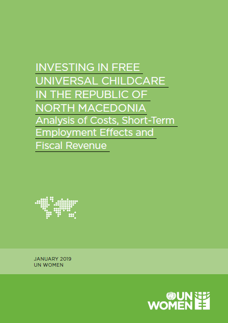 Investing in free universal childcare in the Republic of North Macedonia: Analysis of costs, short-term employment effects and fiscal revenue