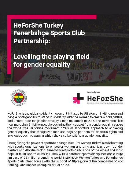 HeForShe Turkey - Fenerbahçe Sports Club Partnership