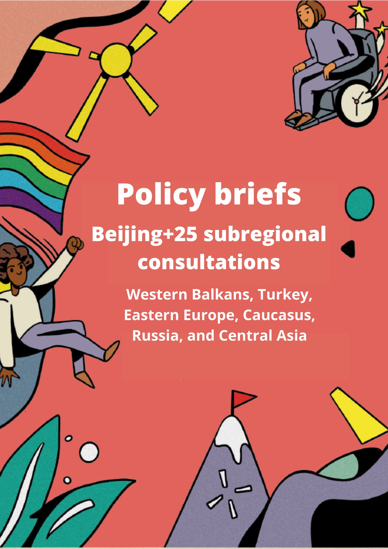 Policy brief cover with subregions in title