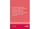 Advancing gender equality and women's empowerment in Ukraine through effective development co-operation and finance