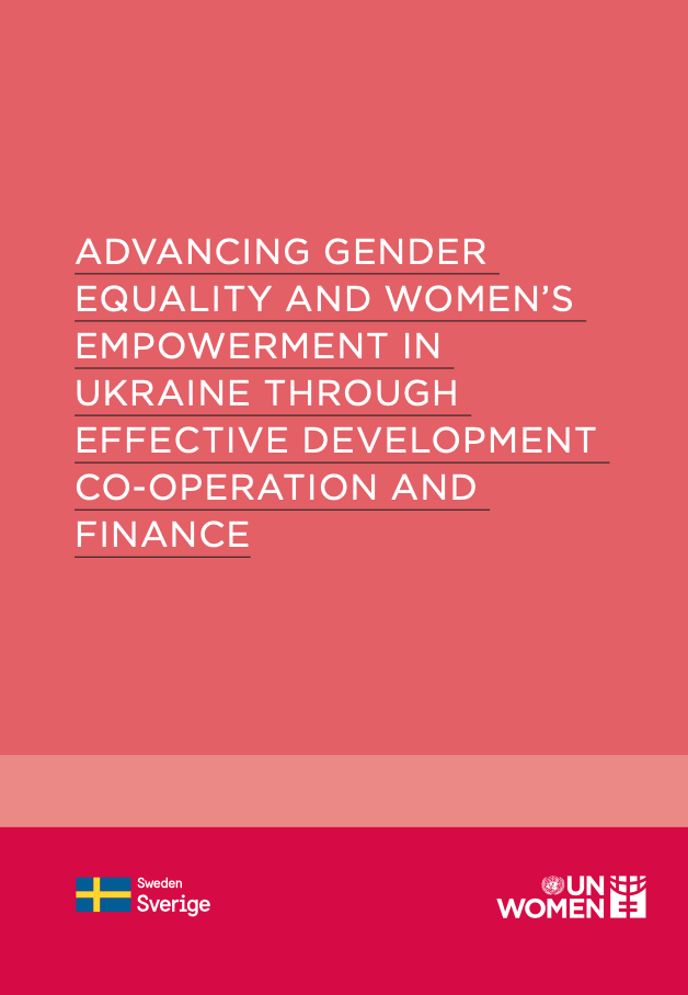 Advancing gender equality and womens empowerment in Ukraine publication cover