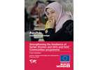 "Synthesis final evaluation report ""Strengthening the resilience of Syrian women and girls and host communities"" programme"