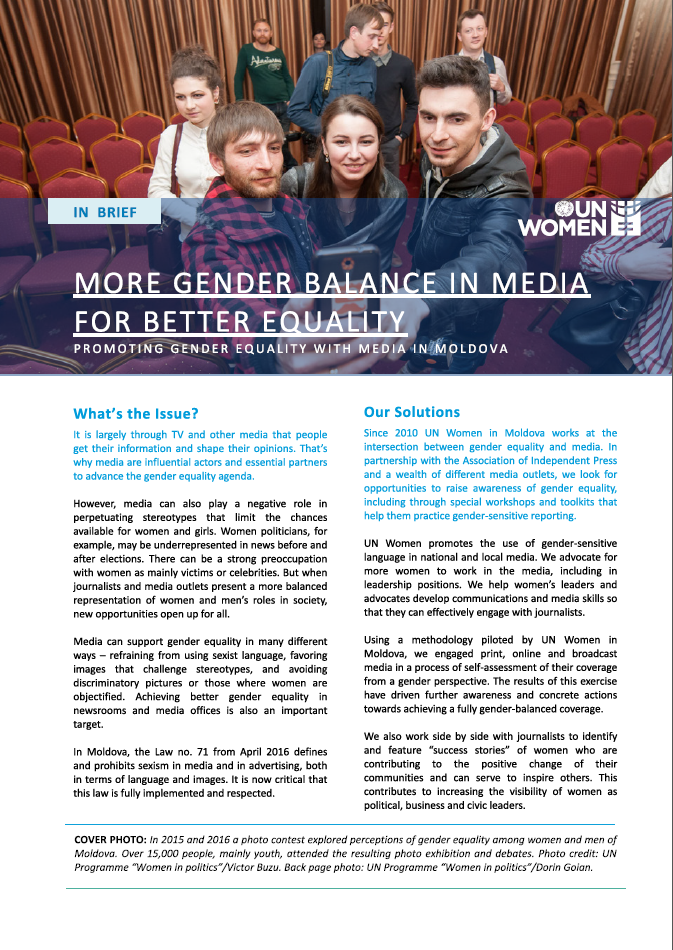 Promoting Gender Equality with Media in Moldova