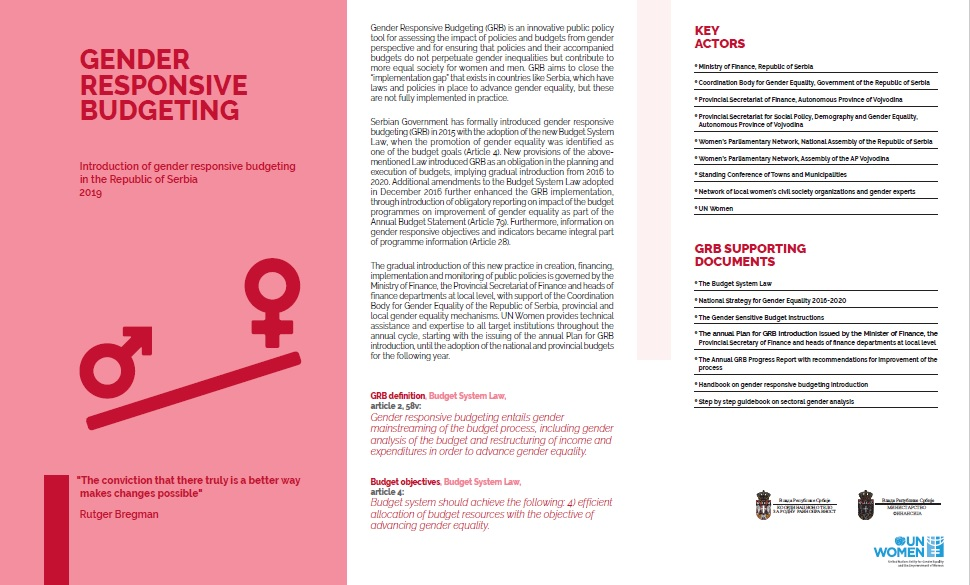 Gender Responsive Budgeting Brief 2019