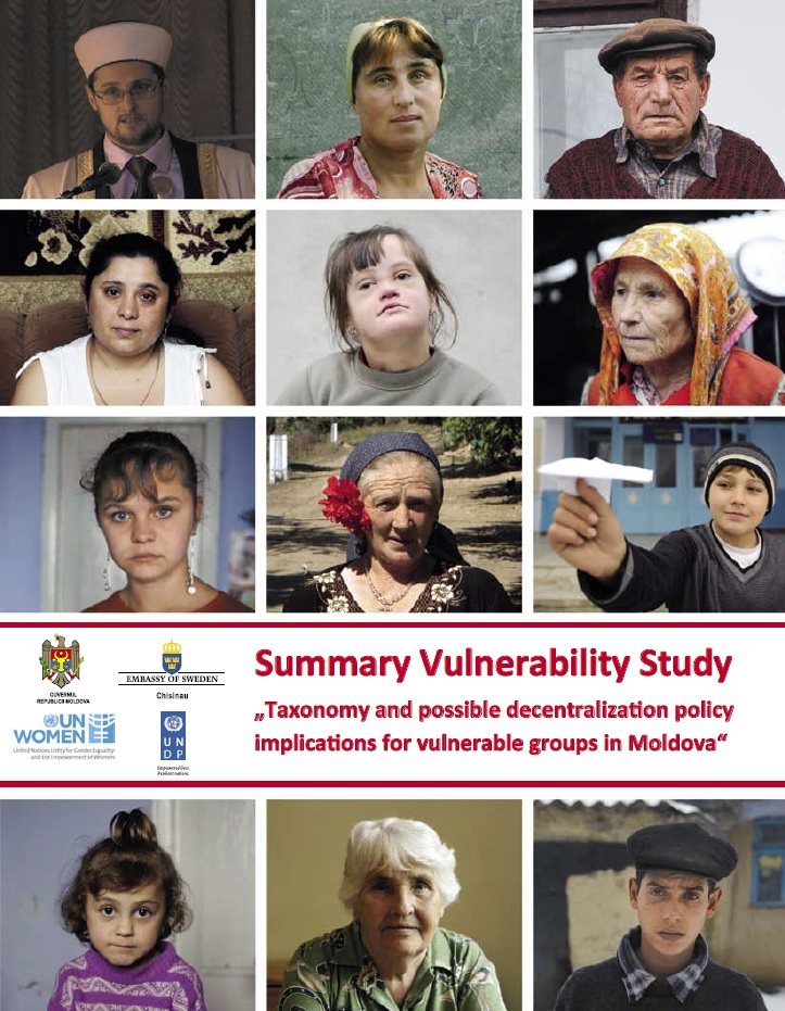 Vulnerability Study, Taxonomy and possible decentralization policy implications for vulnerable groups in Moldova
