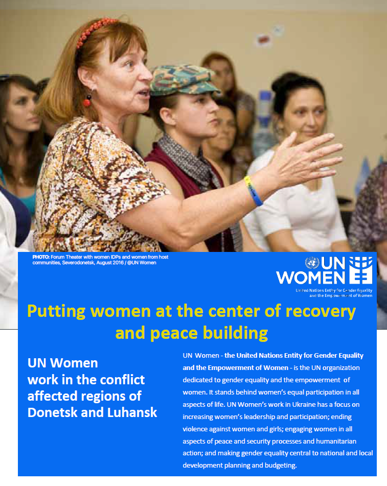 Putting women at the center of recovery and peace building