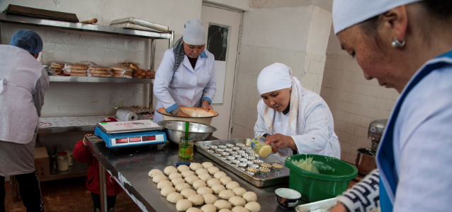 Women rural entrepreneur's self-help group took in Kyrgyzstan. Photo: UN Women Europe and Central Asia/Rena Effendi