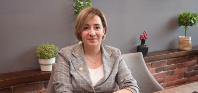 Tatiana Chebac is a lawyer and the president of the 'GENDERDOC-M' NGO, which promotes the rights of LGBTQ people in Moldova. Photo: UN Women