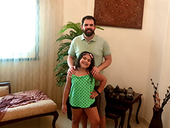 Ahmed El Sheikh and his daughter Leila enjoy their time together at home. Photo: Courtesy of Ahmed El Sheikh