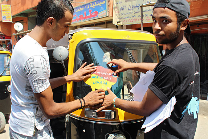 Tuk Tuk drivers join efforts to make the streets of Cairo safe for women
