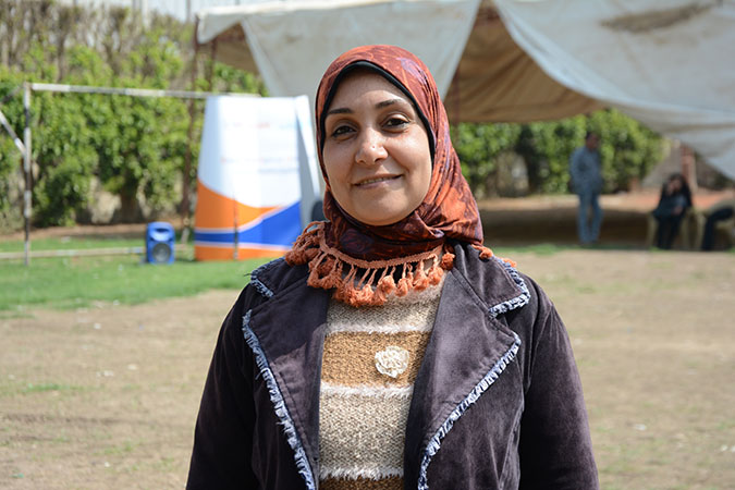 Magda Ahmed, a rural women leader from Minya during a volunteers camp in March 2018. Photo: UN Women/Ahmed Hindy.