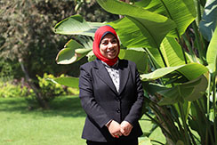 """Amira Mahmoud,the manager of """" The Reception"""" a women's shelter in Alexandria."""