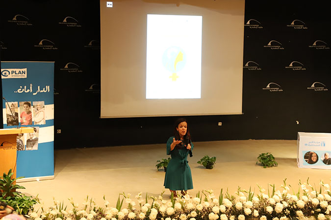 Soha Abu Gharara, Regional Officer at Embassies of Knowledge Department at Bibliotheca Alexandrina sharing her journey in the public event that took place later in the day at Bibliotheca Alexandrina.