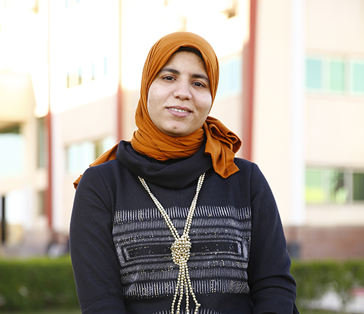 Reham Ramadan, an EVAW volunteer