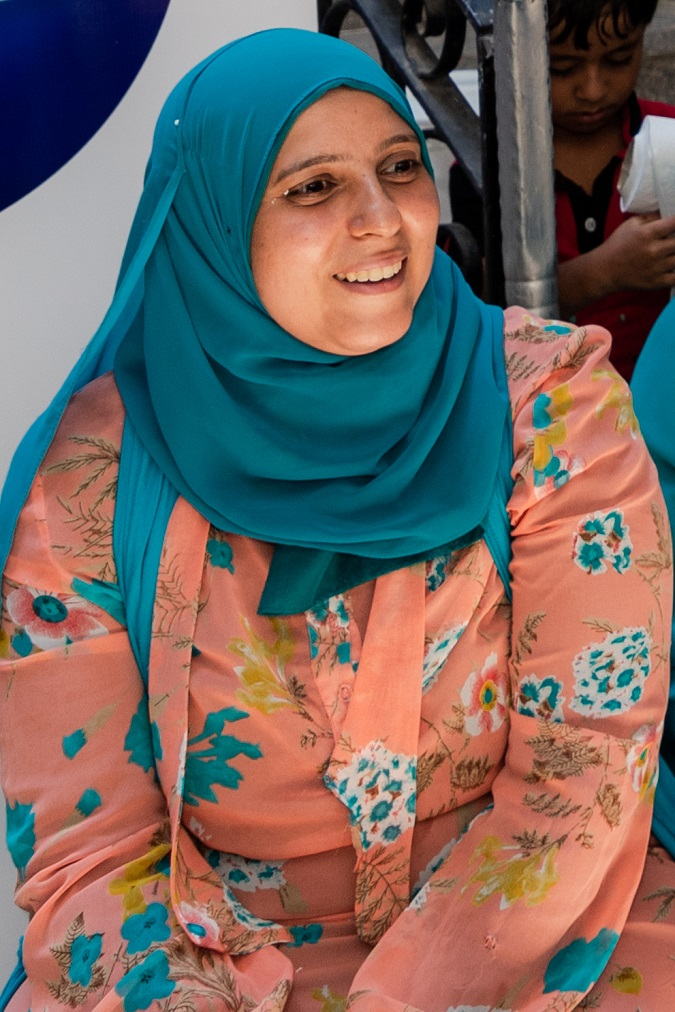 Amal Mahmoud, a woman entrepreneur with UN Women and P&G's Stimulating Equal Opportunities for Women Entrepreneurs programme.