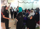 """In the words of Dalia Ramadan: """"The training programme not only taught us how to use arts in our work, but also how to better connect with the women we serve"""""""