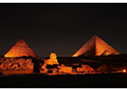 The National Council for Women and UN Women Egypt Light up the Great Pyramids of Giza in Orange to kick off the 16 Days of Activism against Gender-based Violence