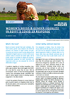 Women's needs and gender equality in Egypt's COVID-19 repsonse