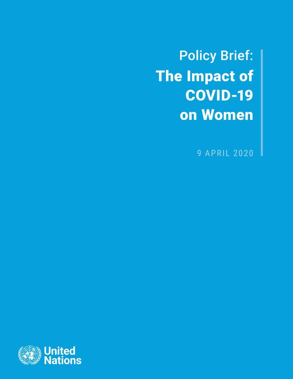 Policy brief: The impact of COVID-19 on women
