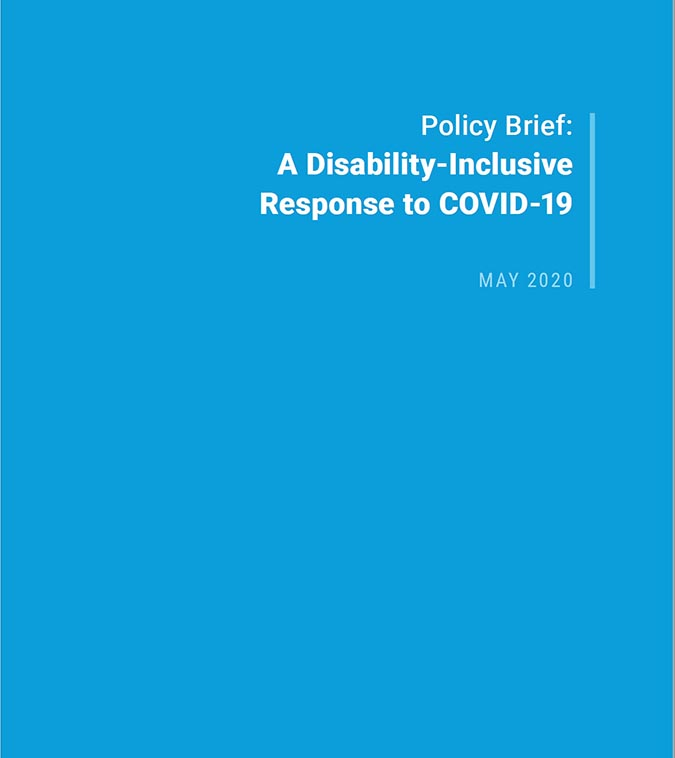 Policy brief: A Disability-inclusive Response to COVID-19
