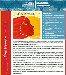 UN Women Pakistan Newsletter, Issue No. 4 - January to April 2013