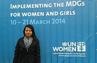 Youth delegates from Cambodia, Timor-Leste and Fiji attend Commission on the Status of Women 2014