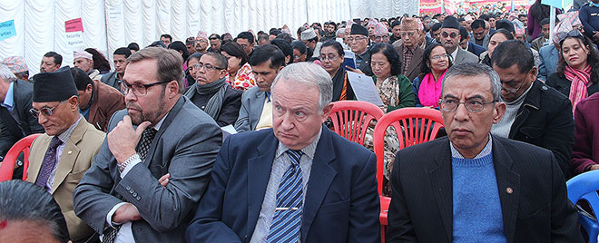Diplomats, Civil Soceity Members, United Nations, Government of Nepal among the audience at the Human Rights Day. Photo: UN Women/Bhavna Adhikari