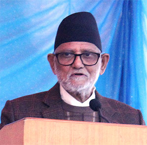 Prime Minister Sushil Koirala delivering his speech on the occassion of Human Rights Day. Photo: UN Women/Bhavna Adhikari