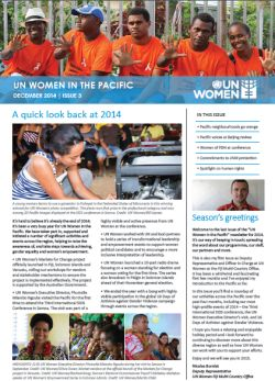 UN Women Pacific Newsletter