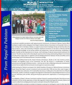 UN Women Pakistan Newsletter Issue 6: September - December 2013